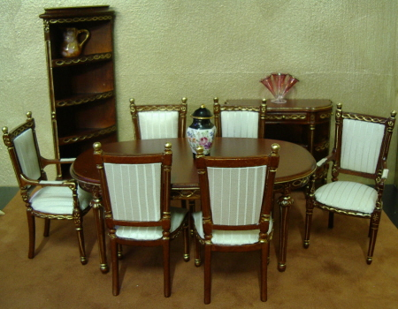 Lovely Doll House Dining Room Furniture
