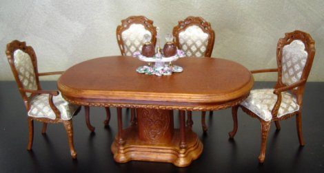 Dollhouse Dining Room And Kitchen Furniture